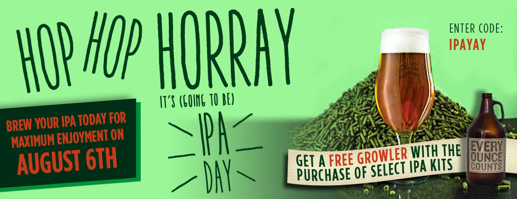 Buy an IPA Kit, Get a Growler for FREE!