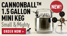 Draft Brewer™ Cannonball™ Mini Keg System