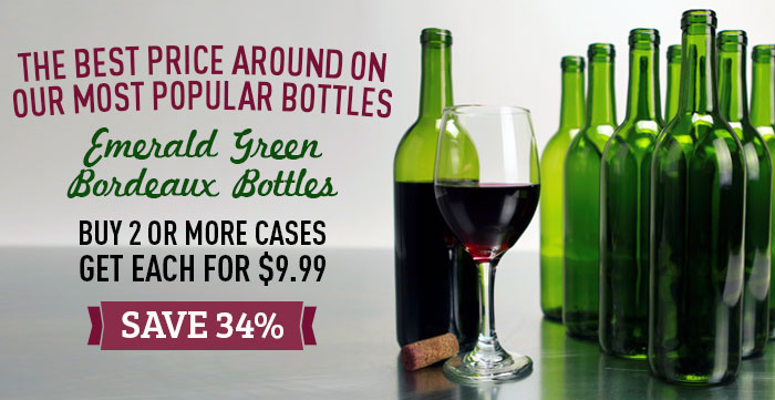 Wine Bottles for $9.99