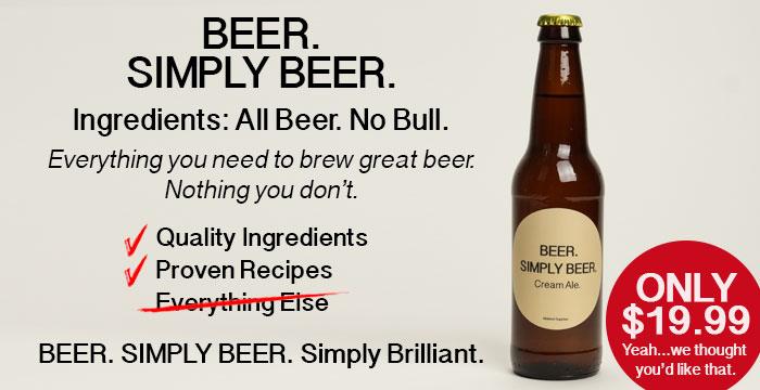 Simply Beer $19.99